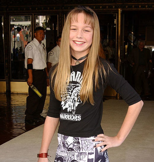 """Brie Larson arrives at the premiere of Disneys """"Snow Dogs"""" in 2002"""