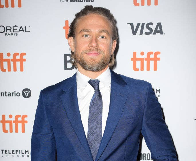 "Charlie Hunnam attends the ""Jungleland"" photo call during the 2019 Toronto International Film Festival"