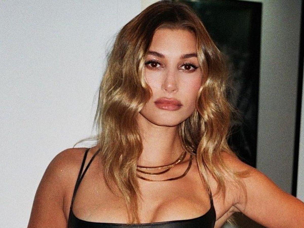 Hailey Bieber Stuns In Saint Laurent Leather Skirt — See The Look