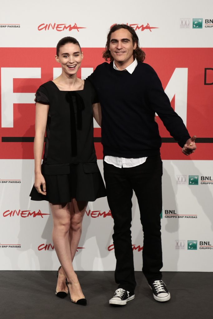 Spike Jones, Rooney Mara and Joaquin Phoenix attend the photocall of movie Her, presented in compettion at the 8th International Rome Film Festival.