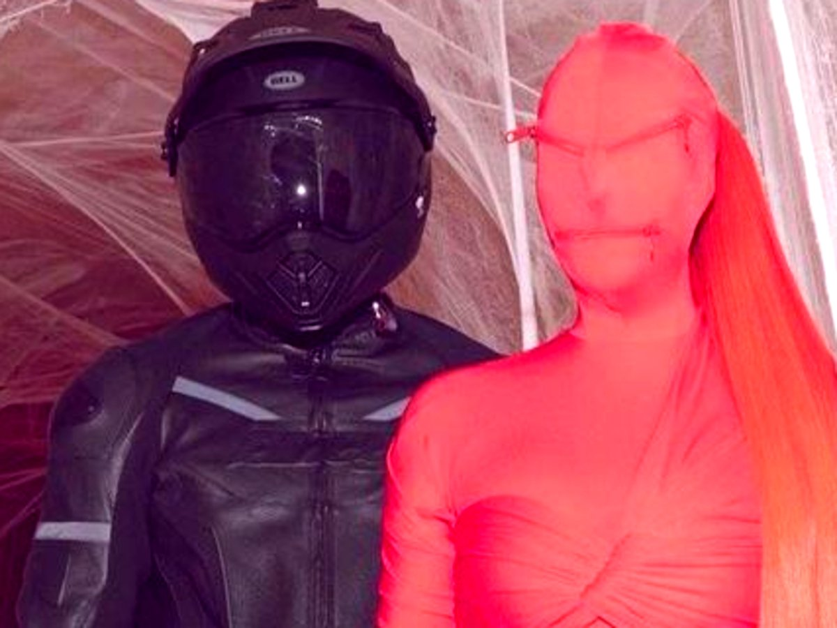 Kim Kardashian's Freaky Alien Costume Was Actually A Balenciaga Gown — See The Look