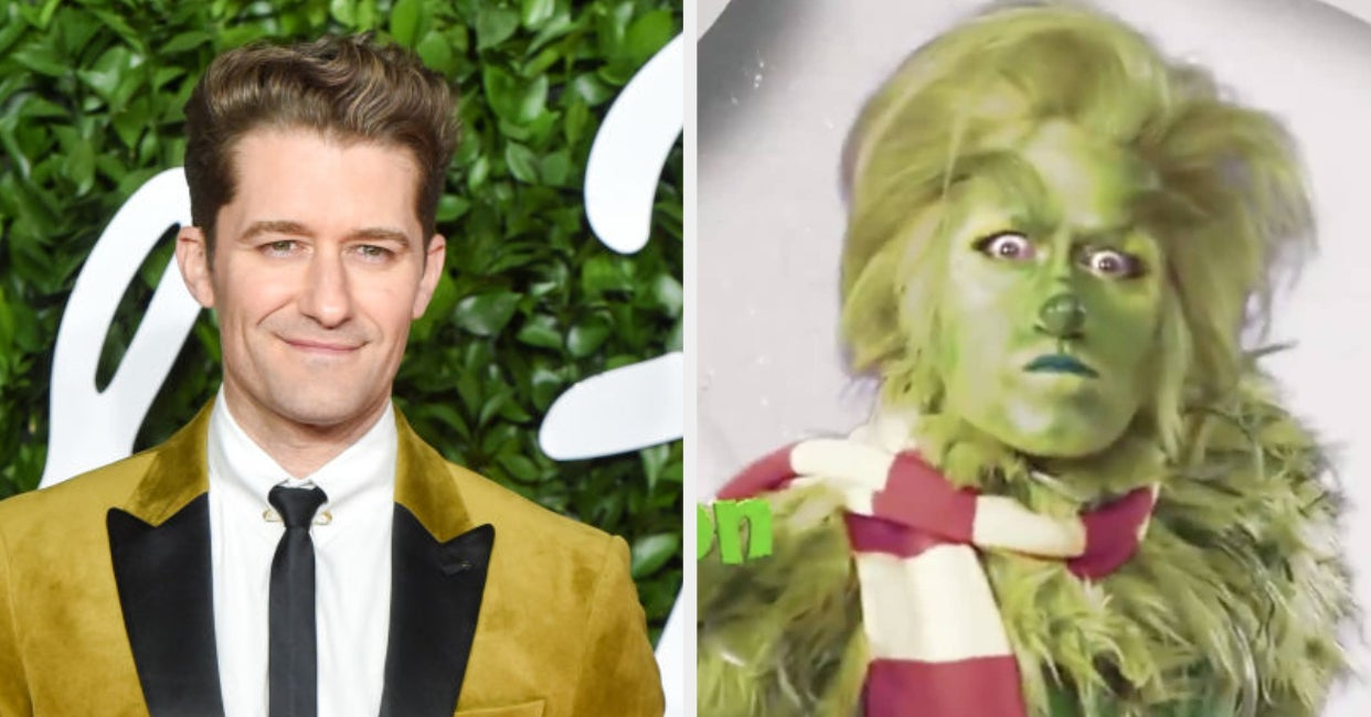 I Can't Stop Thinking About The Haunting Pictures Of Matthew Morrison As The Grinch