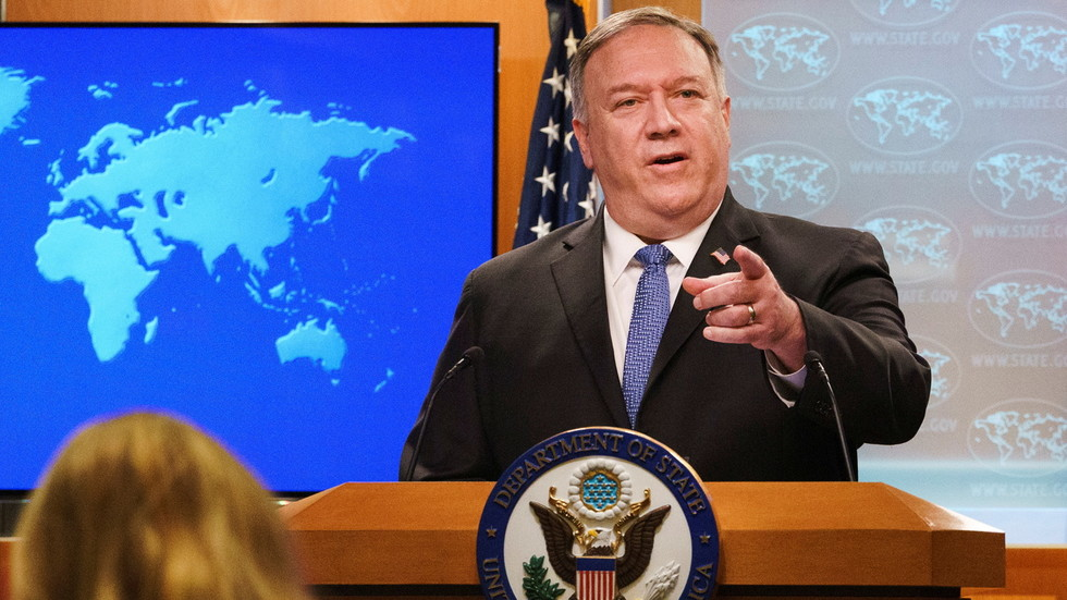 'Undermining democracy!' Secretary of State Pompeo triggers outrage by heralding smooth transition to SECOND Trump administration