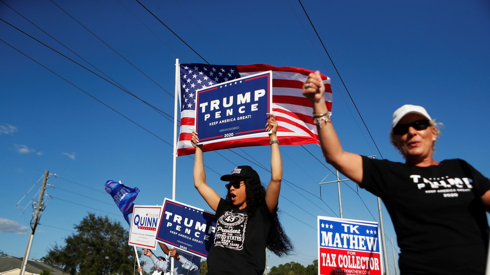 Trump sweeps South & Middle America red states as Florida, Texas still not called