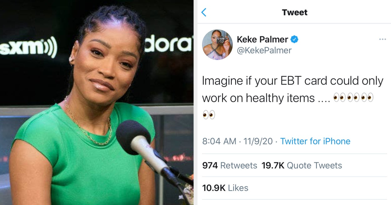 """Keke Palmer Tweeted That Food Stamps Should """"Only Work On Healthy Items,"""" And It's Causing A Huge Controversy"""