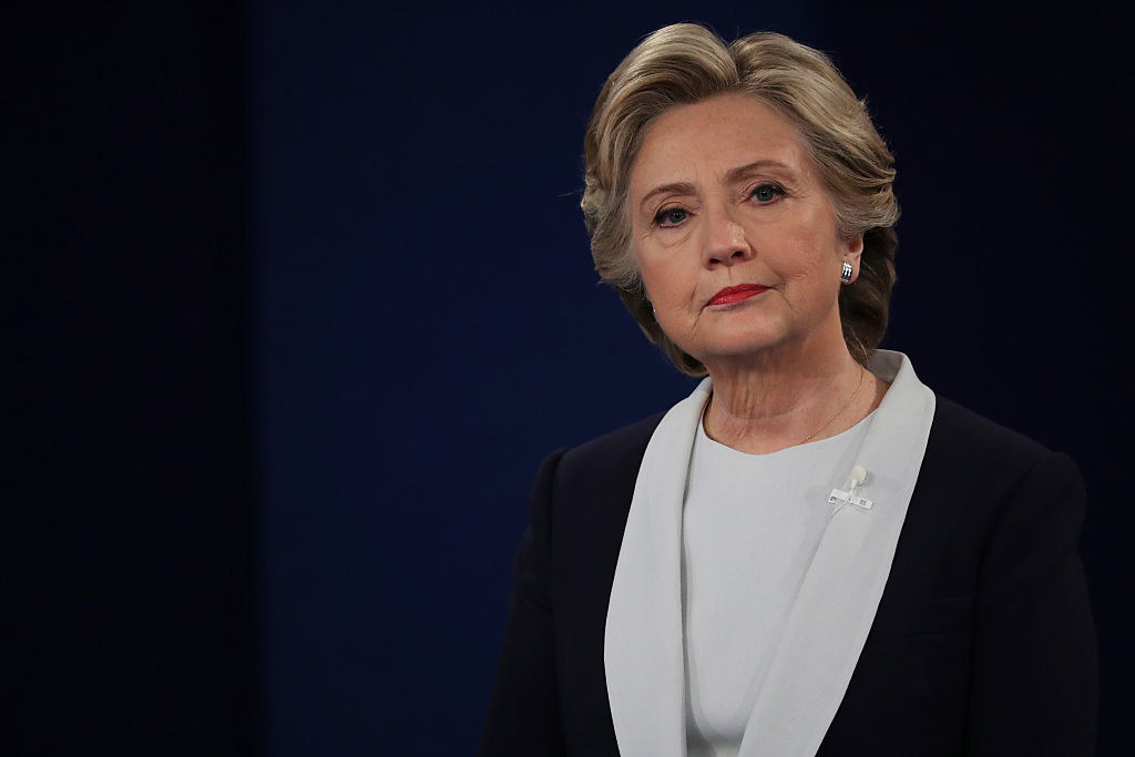 Hillary at the debate in 2016