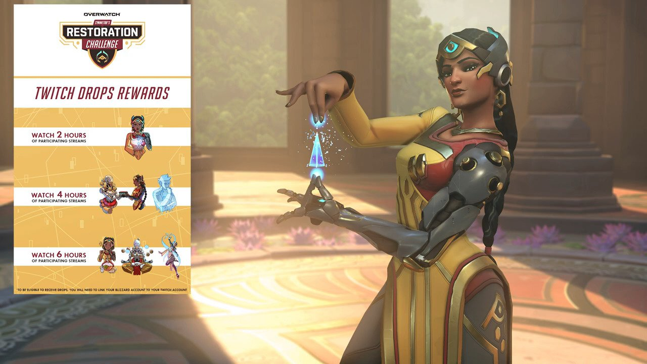 Symmetra Restoration Challenge Event Now Live – New Event Offers Cosmetic Rewards For Gameplay And Watching Streams