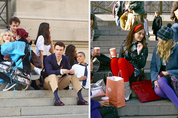 """The """"Gossip Girl"""" Reboot Is Filming At The Steps Of The Met And This Is Not A Drill"""