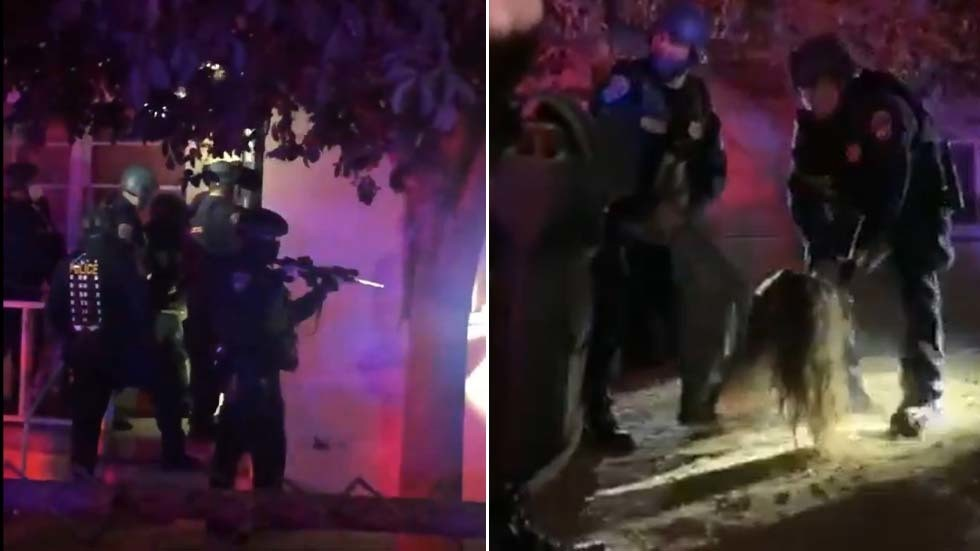 'Nightmarish': California police in riot gear DRAG families from vacant state-owned homes in SHOCKING footage (VIDEOS)
