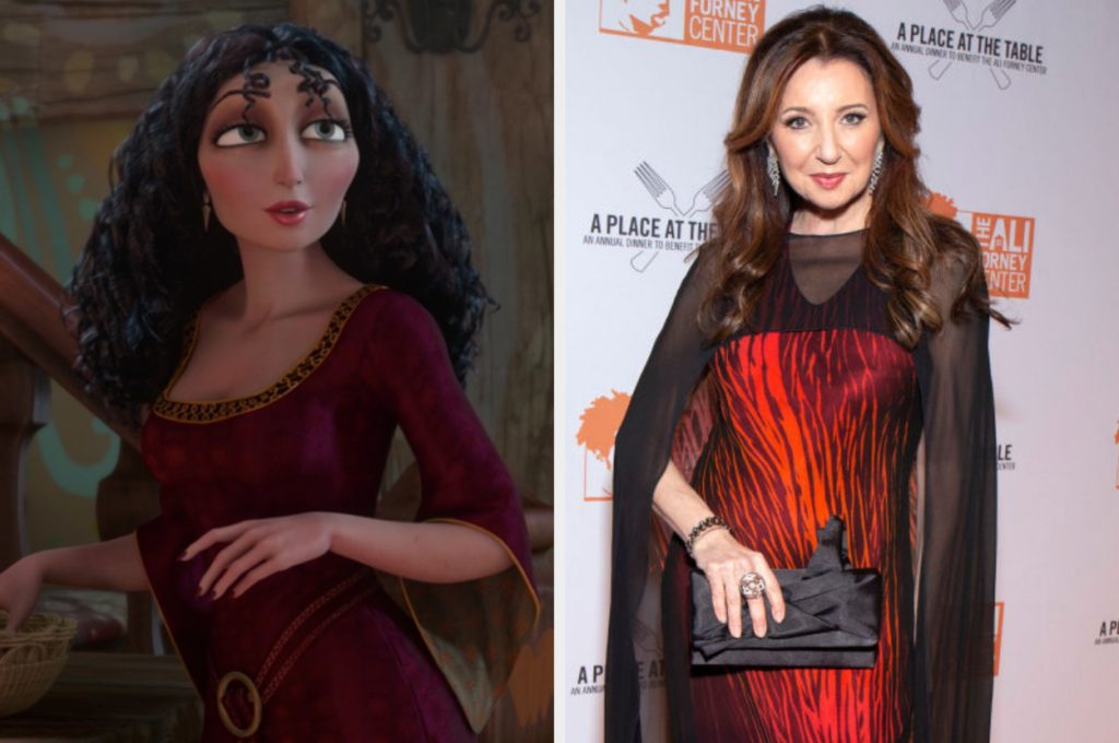 "Mother Gothel in ""Tangled"" alongside Donna Murphy in 2019"