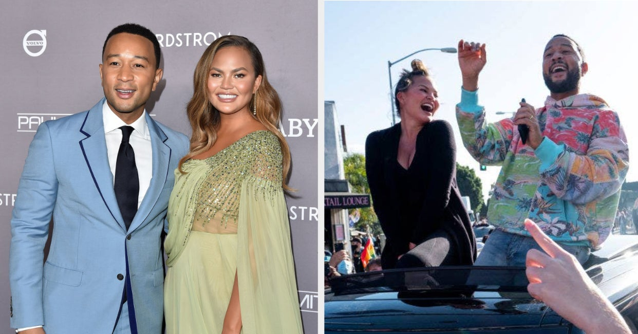 Chrissy Teigen And John Legend Joining A Street Celebration After The Biden Win Is The Kind Of Pure Content I Needed Today