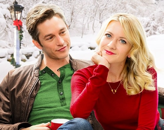 My Christmas Love poster: Bobby Camp looks at a smiling Meredith Hagner