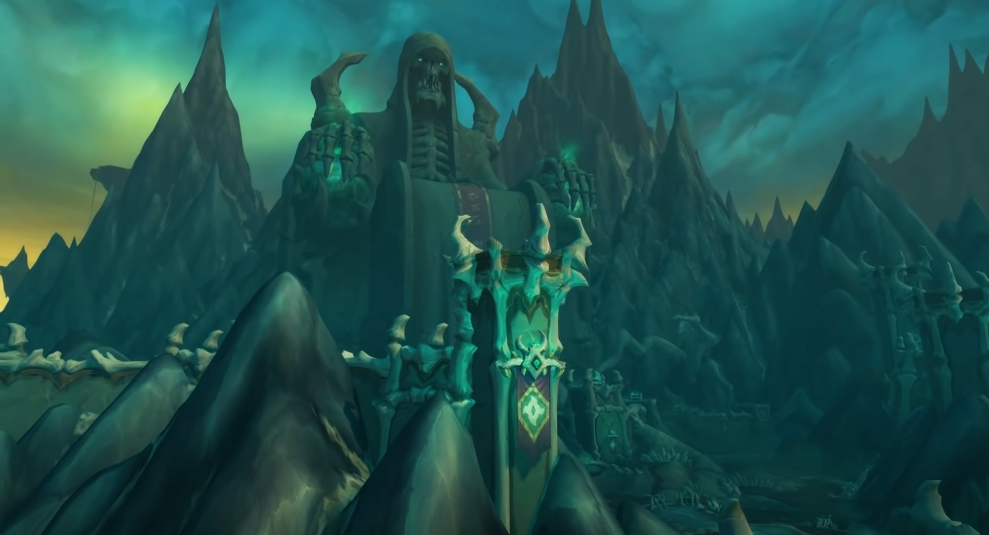 Blizzard's Shadowlands From Above Shows A Daunting Peek At World Of Warcraft: Shadowlands' Maldraxxus
