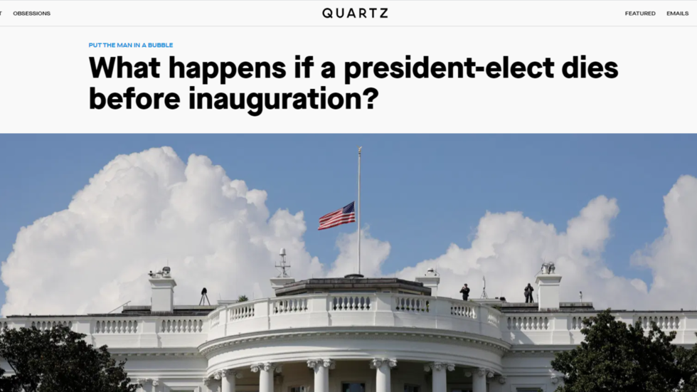 News outlet Quartz apologizes for tweeting story explaining what happens if president-elect DIES after Biden's victory called