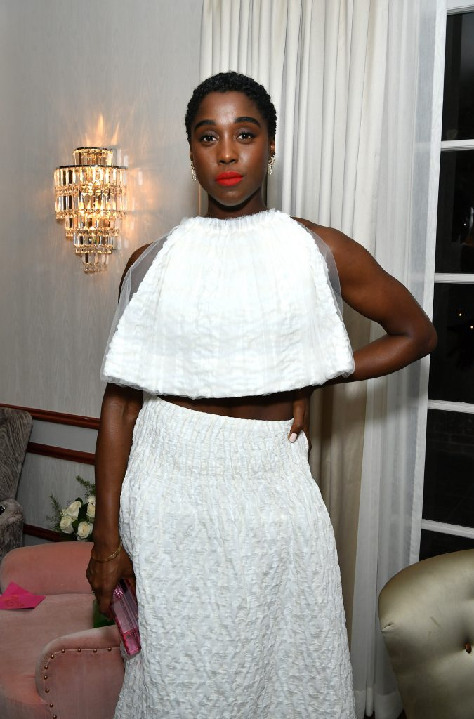 Lashana Lynch attends Alfre Woodard's 11th Annual Sistahs' Soirée Presented by Morgan Stanley With Absolut Elyx on February 05, 2020 in Los Angeles, California.
