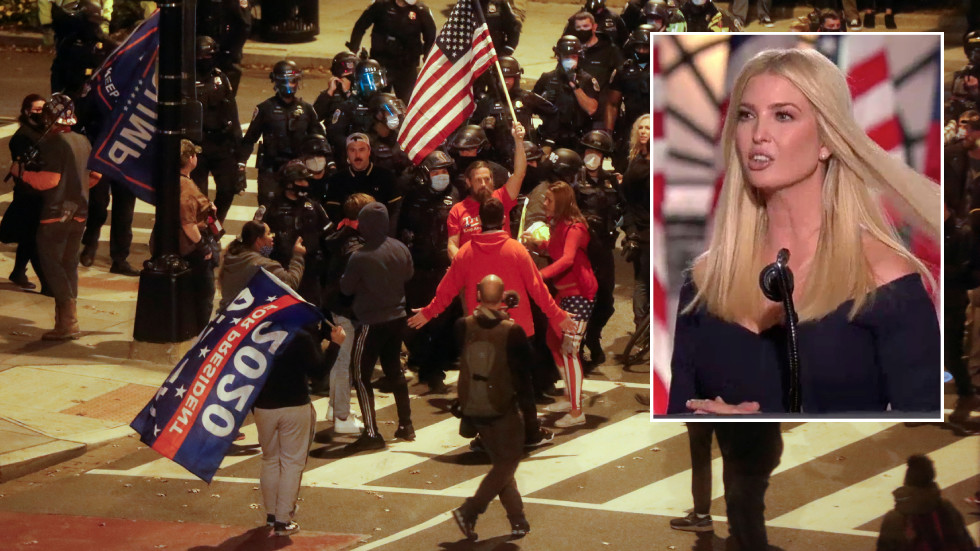 Ivanka & Don Jr blast media for failing to cover attacks on conservatives after Trump rally attendees targeted by mobs