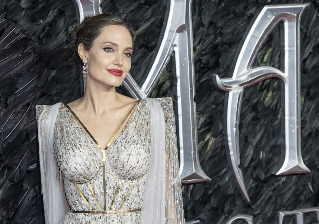 Angelina Jolie attends the 'Maleficent: Mistress of Evil' European Premiere at the BFI Imax, Waterloo