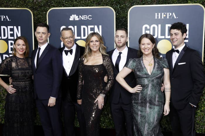 Tom Hanks with his family, including Chet Hanks