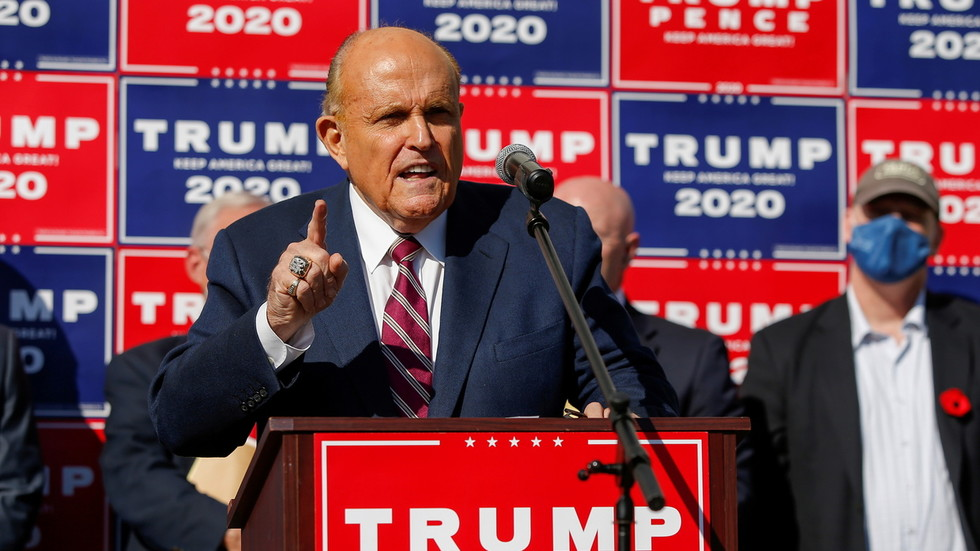 Trump announces that lawyer and 'greatest mayor in NYC' Rudy Giuliani has tested positive for Covid-19