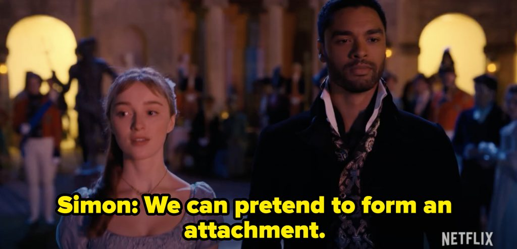 Simon and Daphne entering the ball with one another