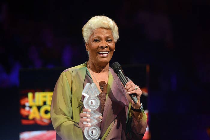 Dionne Warwick at the 2012 MOBO awards