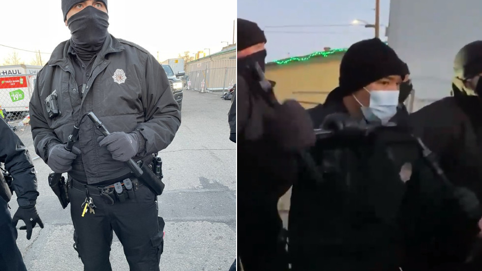 'Mall ninja stuff': Denver police armed with NUNCHUCKS face off against protesters during homeless camp clearout (VIDEO)
