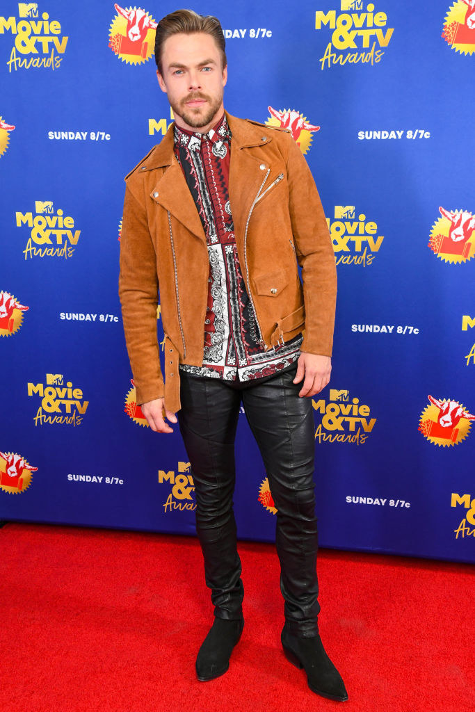 Derek Hough attends the 2020 MTV Movie & TV Awards
