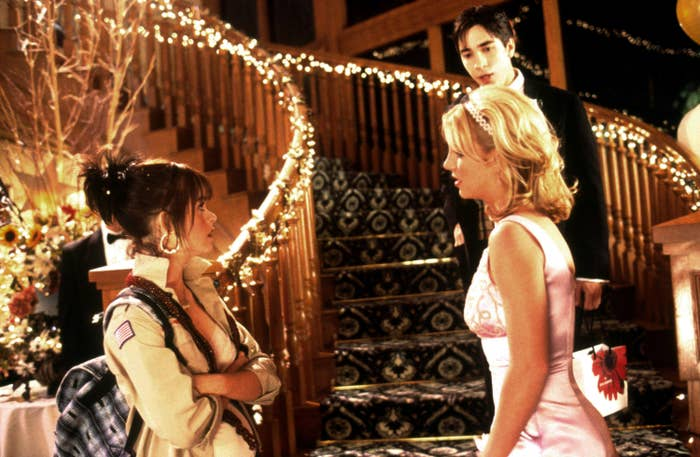 CROSSROADS, from left, Taryn Manning, Britney Spears, Justin Long, 2002