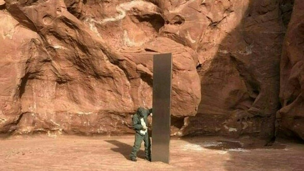'Leave no trace': Mysteriously disappeared Utah monolith was STOLEN by environmentally friendly thieves (VIDEO)