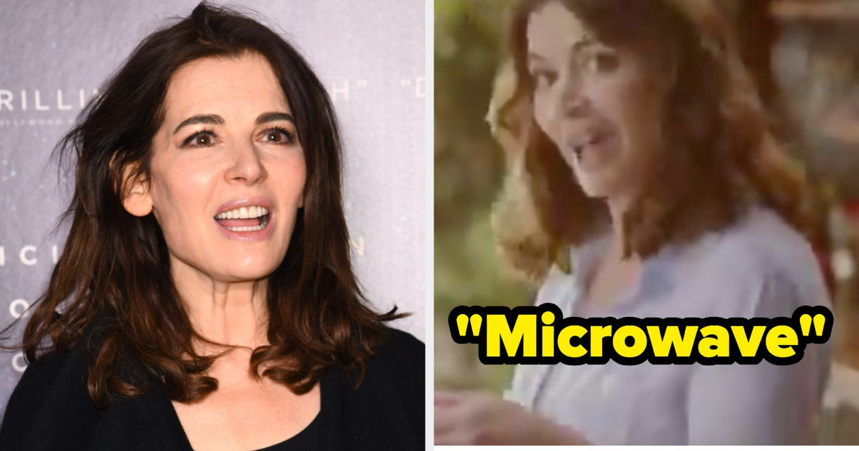 """Nigella Lawson Is Going Viral For The Bizarre Way She Pronounces """"Microwave"""" And It's Breaking My Brain"""