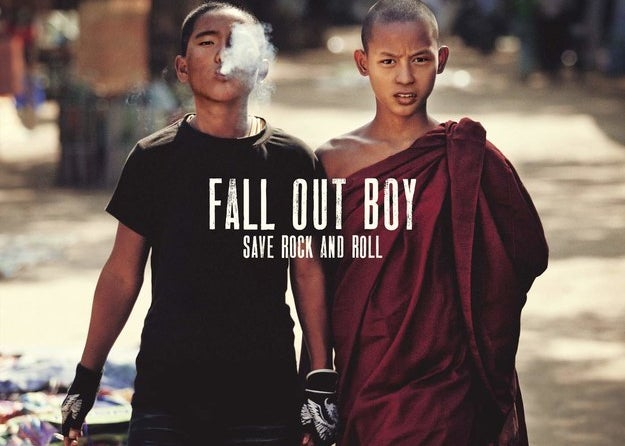 Fall Out Boy's Save Rock And Roll record cover
