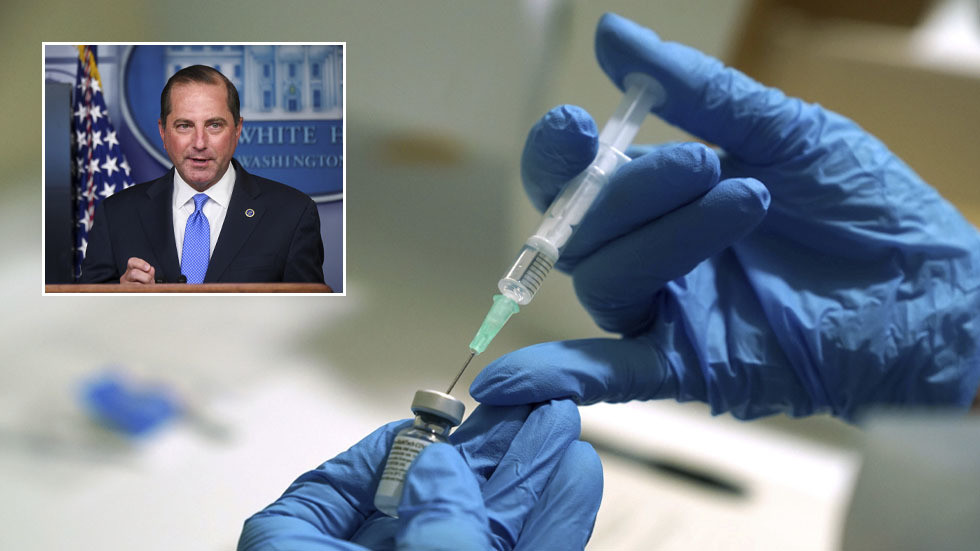 US Covid vaccinations could start on December 14, health and human services secretary says