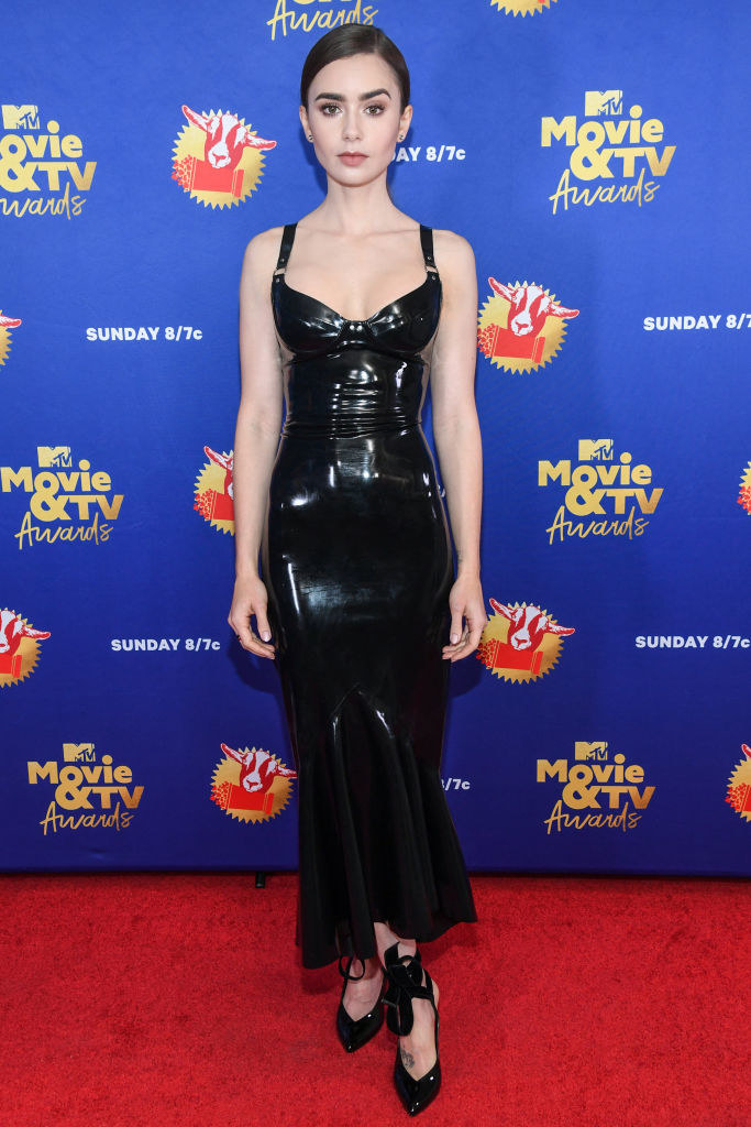 Lily Collins attends the 2020 MTV Movie & TV Awards