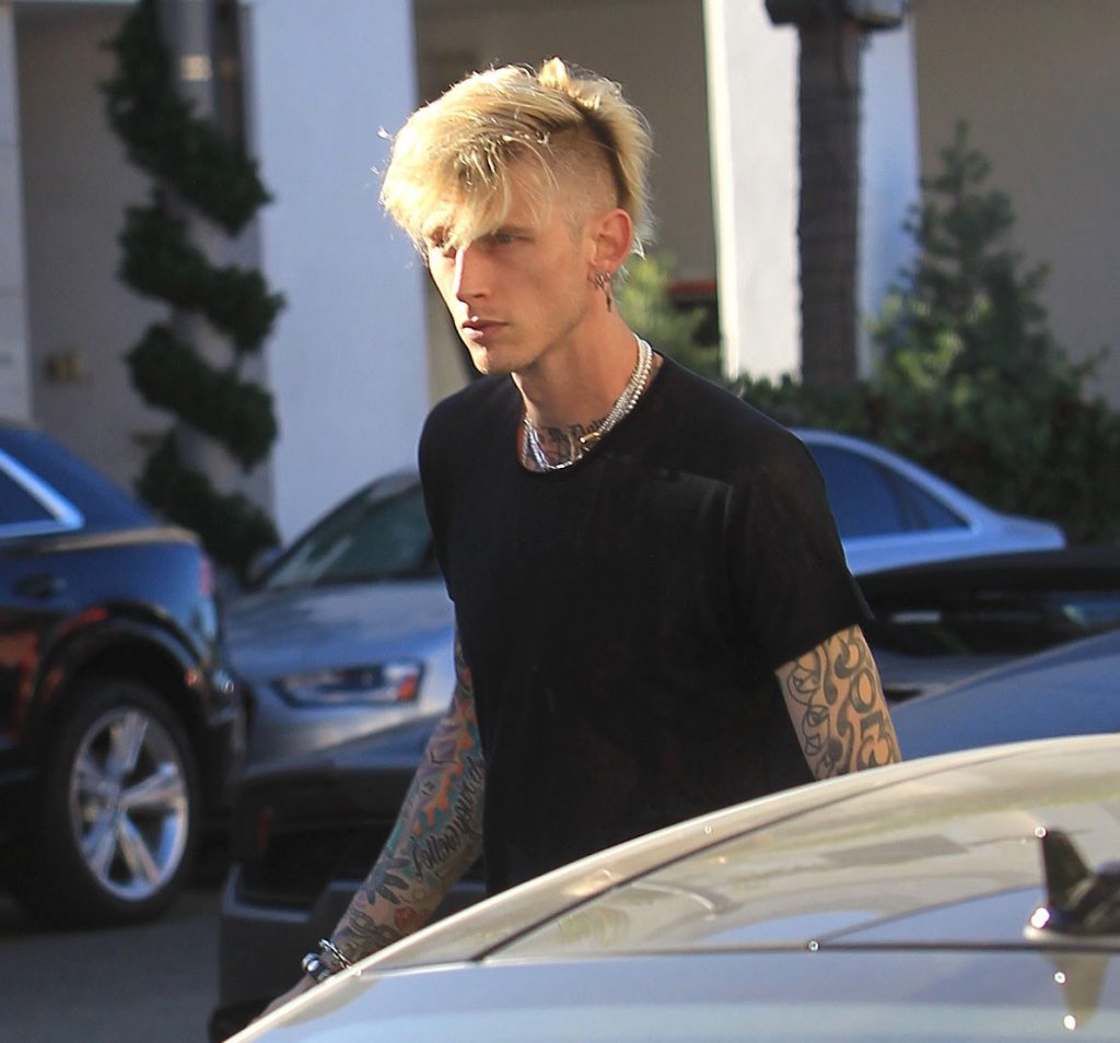 Machine Gun Kelly is seen on November 16, 2020 in Los Angeles, California