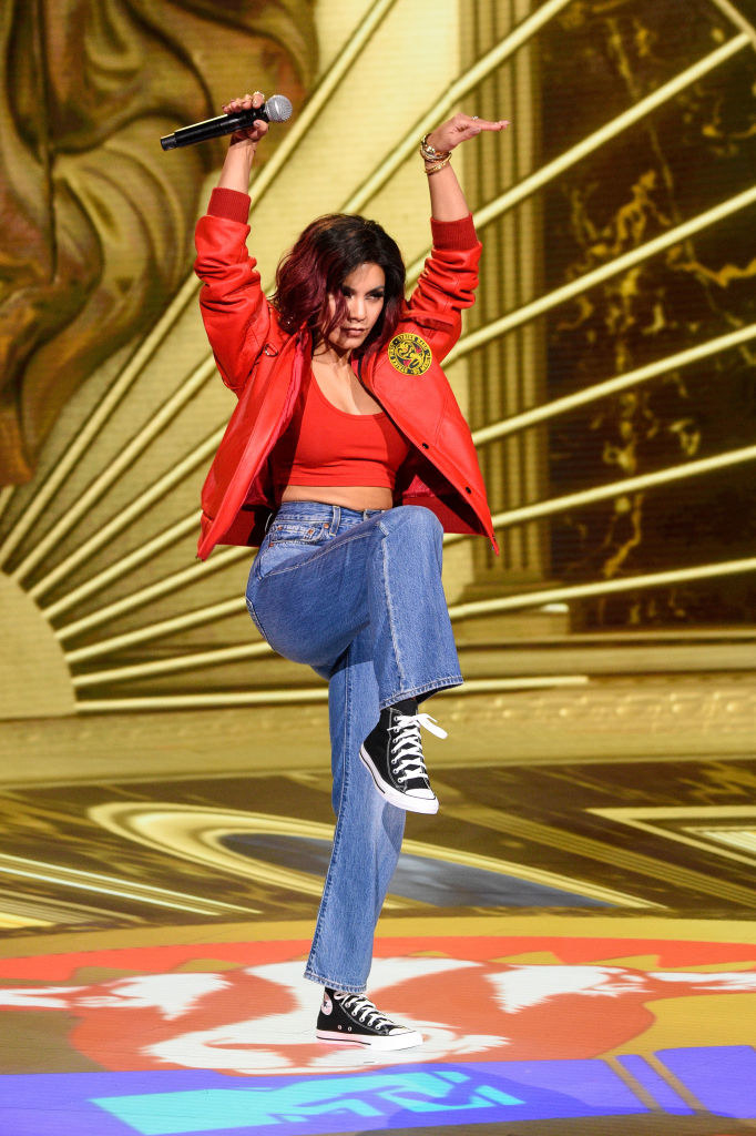 Vanessa Hudgens performs at the 2020 MTV Movie & TV Awards