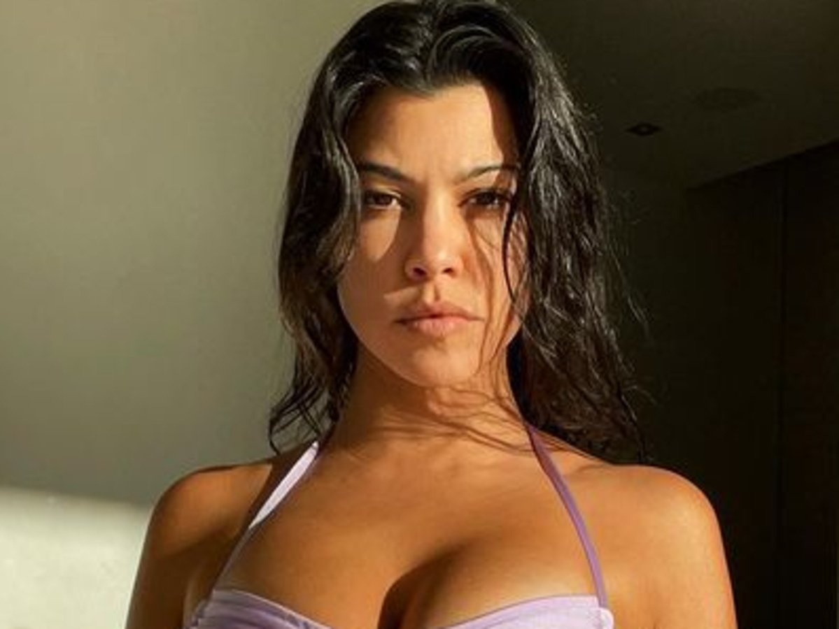 Kourtney Kardashian Goes Viral For Wearing Lilac Bikini Top And It's Not The First Time