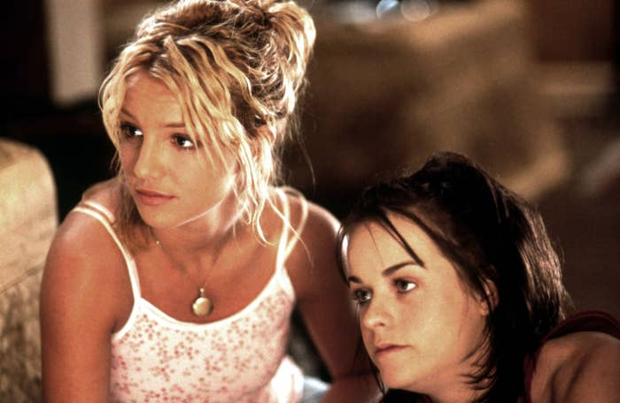 CROSSROADS, from left, Britney Spears, Taryn Manning, 2002