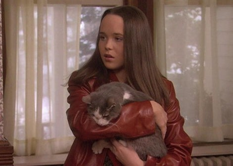Natalie holding a cat