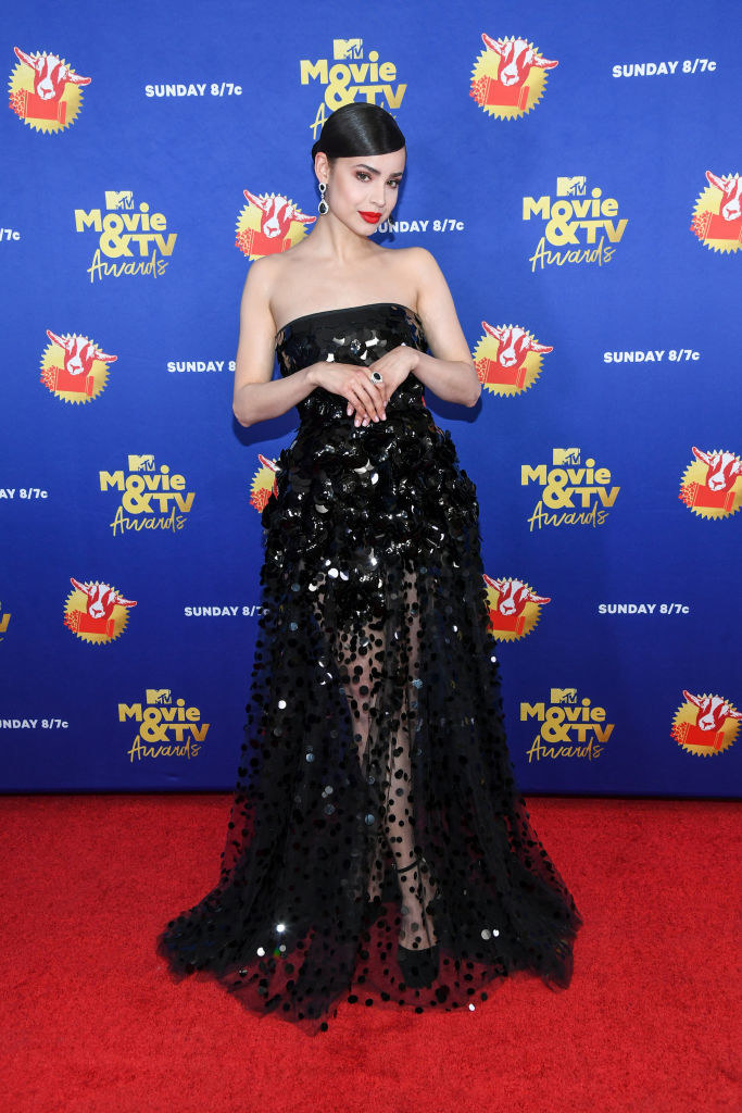 Sofia Carson attends the 2020 MTV Movie & TV Awards