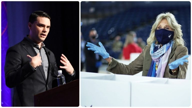 Ben Shapiro branded a 'SNOB' for not being impressed with Jill Biden's doctorate, as Twitter mocks his 'tantrum'