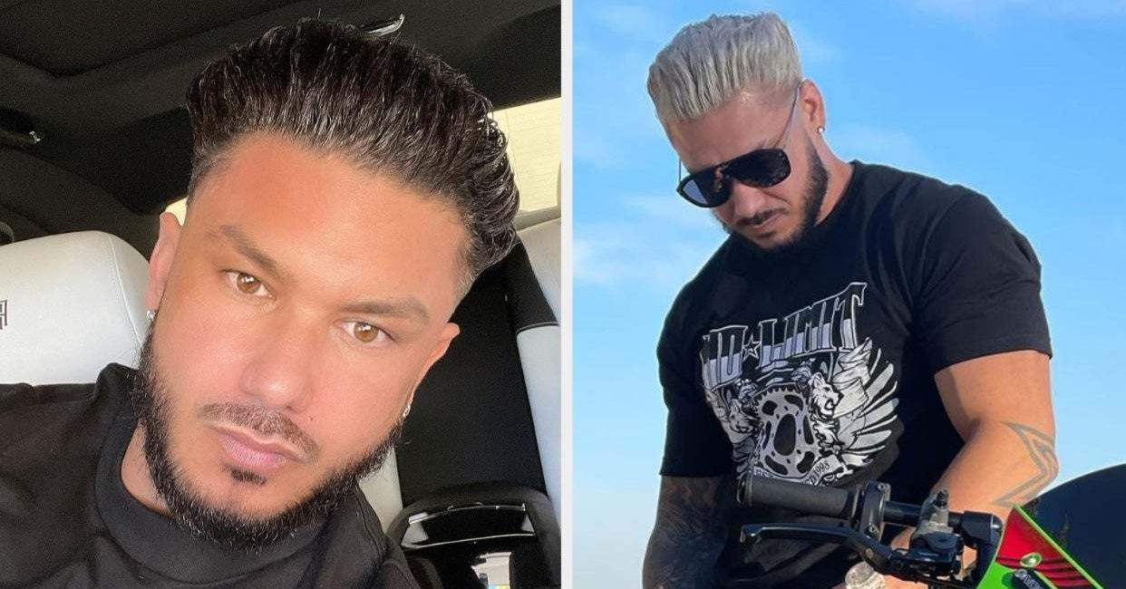 "DJ Pauly D From ""Jersey Shore"" Dyed His Hair Blonde, And He Looks Like An Entirely Different Human"