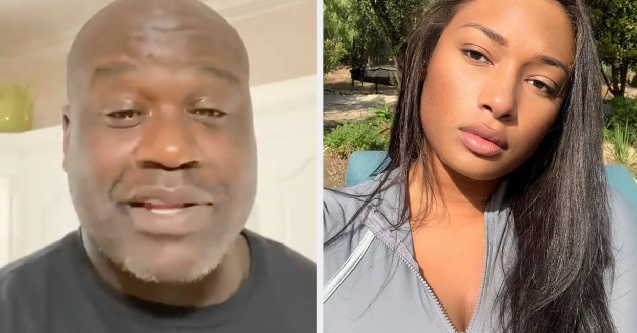 Shaq's Son Shareef Caught Him Shooting His Shot With Meg Thee Stallion And It's Hilarious