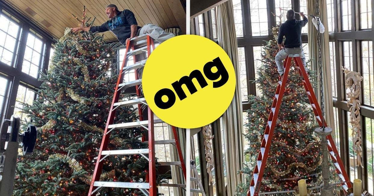 Tim McGraw And Faith Hill's Christmas Tree Is Taller Than Four Shaquille O'Neals
