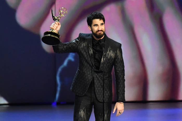 Darren Criss winning an Emmy