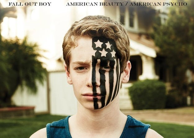 Fall Out Boy's American Beauty/American Psycho record cover