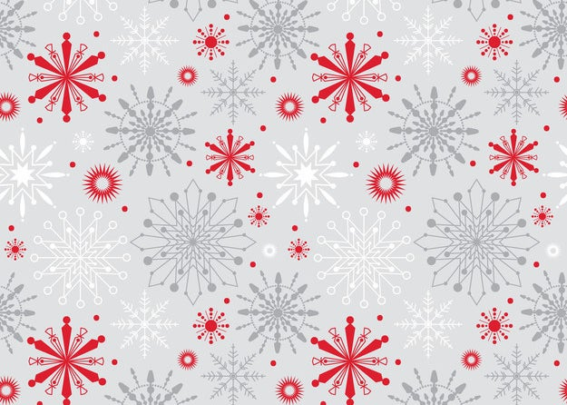 Red and silver snowflakes